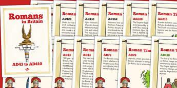 Roman Timeline Posters - romans, timeline, visual aid, history