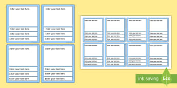 Top Trumps Template - editable top trumps templates, top trumps