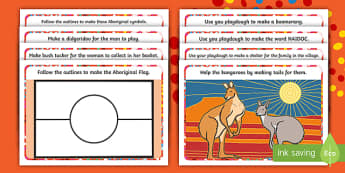 NAIDOC Week Playdough Mats - EYLF, Australia, aboriginal, indigenous, early years, fine motor, kindergarten, pre-primary, kinder,