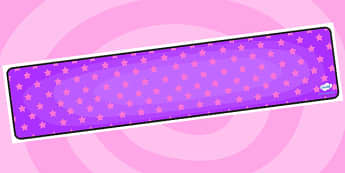 Purple with Pink Stars Editable Display Banner - purple, pink, display, banner, display banner, display header, themed banner, editable banner, editable