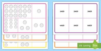 UAE Money to 10AED using 1AED Bingo - UAE Maths Resources, dirhams, money