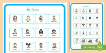 My Family Vocabulary Poster  - family, poster, diversity, ourselves