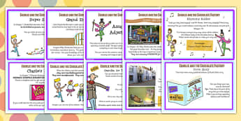 Challenge Cards to Support Teaching on Charlie and the Chocolate Factory - story books