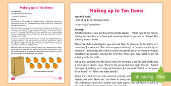 Making up to Ten Items Activity - count, grouping, maths, block, objects, sequence, maths, learning, counting,Australia