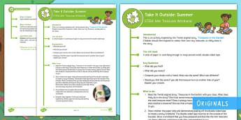 KS1 Take It Outside: Summer Mini Treasures Wristband Activity - forest school, nature detectives, outdoor learning, treasure hunt, treasures in the garden, outdoor, woodland learning, twinkl outdoor and woodland learning owl get it