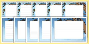 The Wind Page Borders - wind, page borders, page, borders, writing frame