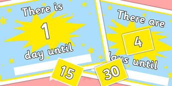 Countdown Calendar Editable - count down, dates, times, calendars