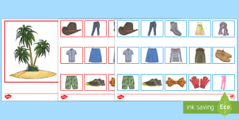 Clothing Desert Island Loot Board Game French - French Games, french clothes, french clothing, french team games, french pair games,plenary, starter