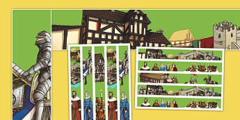 Middle Ages Display Border - middle ages, medieval, history, display border, display, border