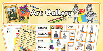 Art Gallery Role Play Pack - art gallery, role play, pack, art gallery pack, role play pack, art gallery role play, art, gallery, activity pack, game pack