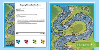 Stepping Stones Spelling Game - Support with KS2 spellings, spellings games, KS2, KS1, game, stepping stone, list, SPaG, GPS