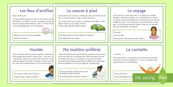 Inference Challenge Cards French - KS4 French Inference Resources, GCSE, reading, exam, understanding, grammatical, structure, grammar,
