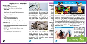November 2017 News For You - News For You, Classroom Newspaper, School Newspaper, Class News, Children's Newspaper, Journalistic