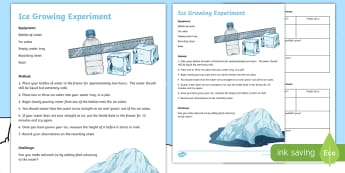 Winter Ice Growing Science Experiment - outdoor learning, seasons, second level, crystals, freezing,Scottish