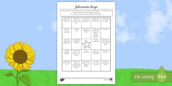 Letzter Schultag Bingo Arbeitsblatt - Letzter Schultag, Bingo, Arbeitsblatt, Spiele, Schuljahresende, Spaß, Unterricht, Klassenkameraden,