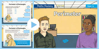 Year 4 Perimeter Maths Mastery PowerPoint - Reasoning, Greater Depth, Abstract, Problem Solving, Explanation,