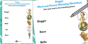 Word and Picture Match to Support Teaching on Dogger - matching, words, pictures, match