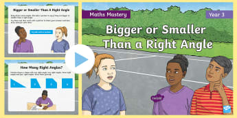 Year 3 Right Angles Maths Mastery PowerPoint - Reasoning, Greater Depth, Abstract, Problem Solving, Explanation