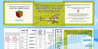 PlanIt Y4 Term 1B W3: -tion Endings (root words ending in 't' or 'te' or no definite root word) Spelling Pack