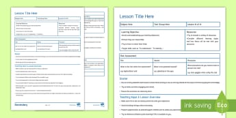 Editable Secondary Science Lesson Plan Proforma - Editable Secondary Science Lesson Plan Proforma - secondary lesson plan, NQT, interview lesson, plan