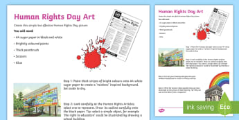 Human Rights Day Rainbow Activity Activity - human, rights, articles, act, law, illustration, united nations, declaration,Scottish