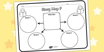 Story Map F Worksheet - story map F, story, stories, story map, story map worksheet, map stories, story worksheets, worksheets, literacy, english, reading