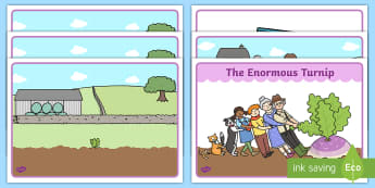Enormous Turnip Story Sequencing -  Enormous Turnip, sequencing, Traditional tales, tale, fairy tale, little old man, little old woman, seed, cat, dog, mouse, pull, turnip, working together, the enormous turnip story book