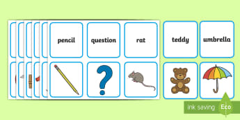 Alphabet Words and Pictures Matching Cards - ESL Alphabet Resources