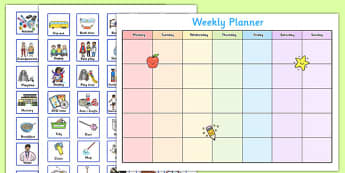 Toddler and Young Children Weekly Planner - baby, toddler, two, little, plan, timetable, organisation, mother, mum, dad, father, parents, parenting, rota, schedule