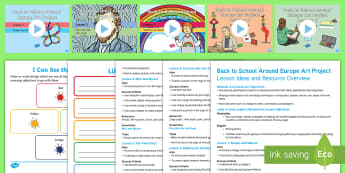 KS1 Back to School Around Europe Art Project Lesson Pack -  european art, Klee, Van Gogh, Matisse, Miro,