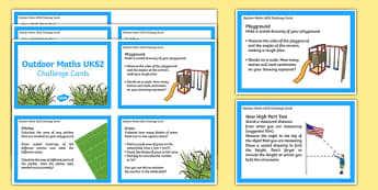 UKS2 Outdoor Challenge Cards