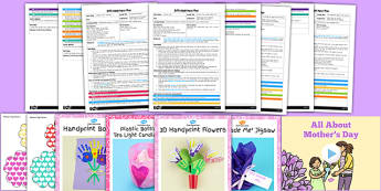EYFS Mother's Day Adult Input Planning and Resource Pack - adult led, pack