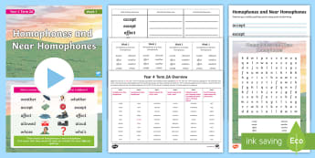 Year 4 Term 2A Week 1 Spelling Pack - Spelling Lists, Word Lists, Spring Term, List Pack, SPaG