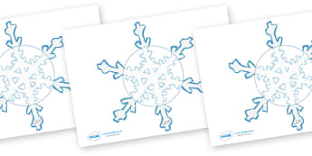 Editable Display Snowflakes - Winter, Christmas, editable, winter words, snowflake, snow, winter, frost, cold, ice, hat, gloves, display words