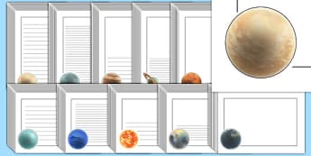Year 5 Earth and Space Page Borders - australia, earth, space, page borders