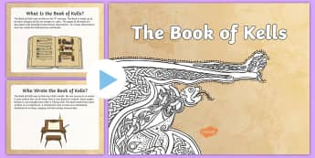 The Book of Kells PowerPoint - early christian ireland, monastic, monastery, scripture, book of kells, history, tourism,Irish