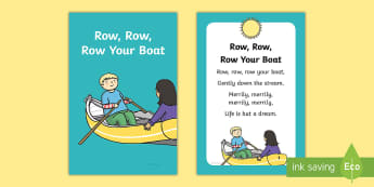 Row, Row, Row Your Boat Nursery Rhyme IKEA Tolsby Frame - baby signing, baby sign language, communicate with baby, pre verbal baby, tiny talk, sing and sign,
