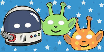 Astronaut And Alien Role Play Masks - astronaut, alien, space, monster, role play, play, masks