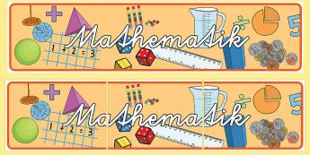 Mathematik Banner für die Klassenraumgestaltung - Mathematik Banner für die Klassenraumgestaltung, Mathematik Banner, Mathe Banner, mathe banner, Mat