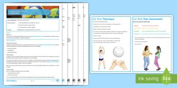Volleyball Lesson 1: Set Shot - PE, Volleyball, set shot, lesson plan, KS3
