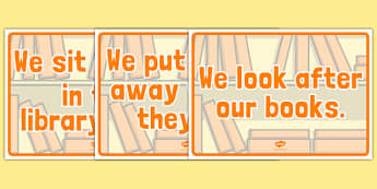 Library Rules Display Posters - library rules, library, rules, display, poster, sign, keep quiet, quiet, silence, reading, books, reading area