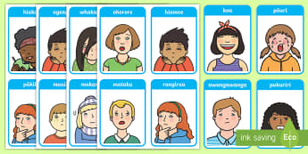 Emotions and Expressions Flashcards - New Zealand, emotions, feelings, cards, ks1, infants, sen, describe, model