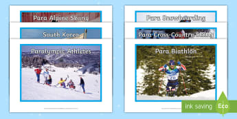 Winter Paralympics 2018 Photo Pack - sporting events, south korea, sEN, language development, visual prompts, olympic games, pyeongchang