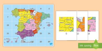 Tapiz de Bee Bot: Las provincias de España - Mapas, provinicias, mapas mudos, mapas en blanco, las ciudades de españa, comarcas, concejos, comun
