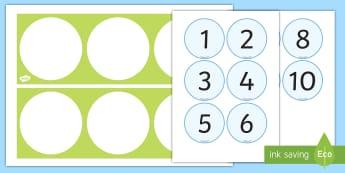 Linea dei numeri da 1 a 10 Attività - linea, dei, numeri, da 0, a , 10, esericizio, matematica ritaglia, incolla, italiano, italian, mater