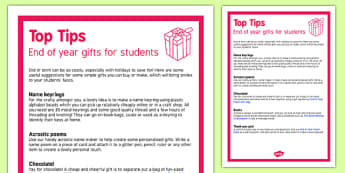 End of Year Gifts for Students Top Tips