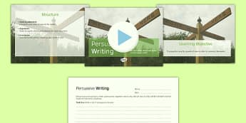 Persuasive Writing PowerPoint Pack - persuasive, writing, powerpoint
