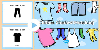 Clothes Shadow Matching PowerPoint - clothes, powerpoint, matching, game, shadows, light, science,