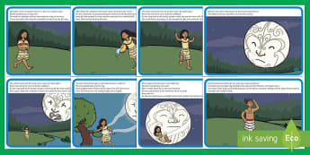 The Legend of Rona and the Moon Story - Rona, marama, moon, calabash, ngaio