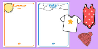 Winter and Summer Clothes Sorting Activity Romanian Translation - romanian, winter, summer, clothes